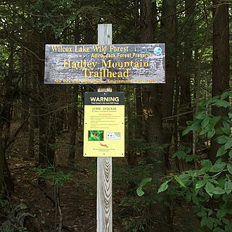 Hadley Mountain - Sign at trail head