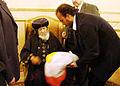 Haggagovic with Pope Shenouda III.JPG