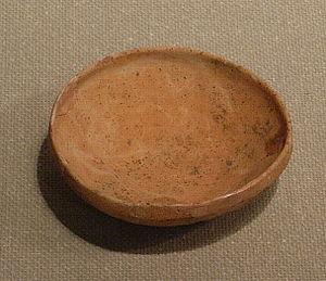 Haji pottery - Haji plate, Kōriyama site, Sendai, Miyagi