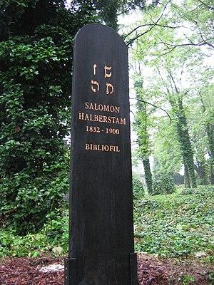 Solomon Joachim Halberstam - Halberstam tomb with his initials in Rashi script