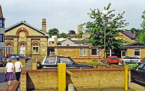 Halstead railway station - Site of the station (1995)