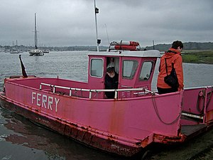 Warsash - The ferry, which cannot carry motor vehicles