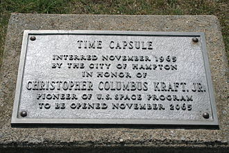 Air Power Park - time capsule buried in park near Jupiter C rocket and F-89J