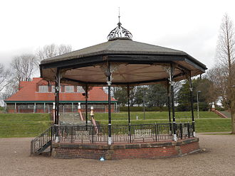 Hanley Park - Bandstand with pavilion in the background