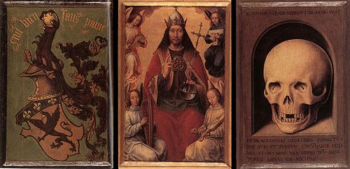 Hans Memling - Triptych of Earthly Vanity and Divine Salvation (rear) - WGA14943.jpg