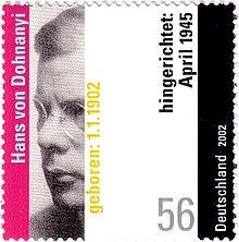 Hans von dohnanyi deutsche briefmarke 2002