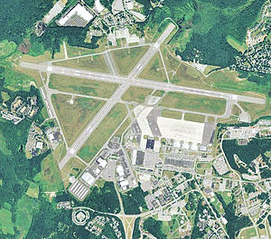Hanscom Air Force Base - 2006 USGS aerial photo of Hanscom AFB