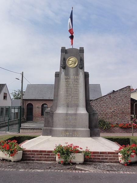 Hauteville (Aisne) monument aux morts