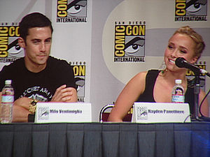 Hayden Panettiere - Panettiere with Heroes co-star Milo Ventimiglia (left)
