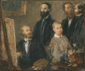 Manet in his Studio