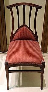 Henri van de velde, sedie e divano imbottiti per salotto, dalla casa del banchiere louis bauer a bruxelles, 1896, 01
