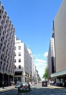 Henrietta Place street in Marylebone, London, England