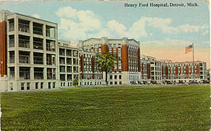 Henry Ford Hospital - Henry Ford Hospital in 1920.