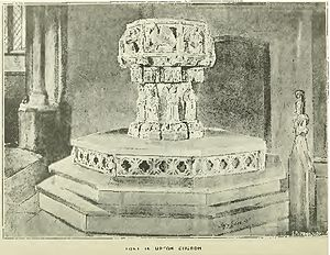 Henry Gales - Font in Upton Church
