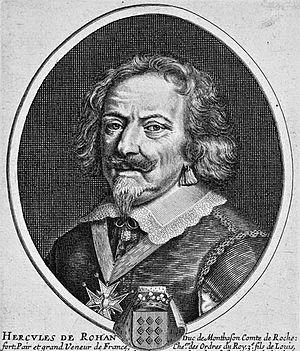 Hercule, Duke of Montbazon - Hercule de Rohan. Engraving by Pierre Daret (1610-1675)