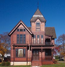 The Herman C Timm House In New Holstein Wisconsin Has Stickwork Painted A Darker Brown For Contrast