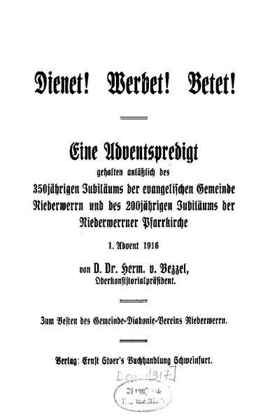 File:Hermann von Bezzel - Dienet Werbet Betet.pdf