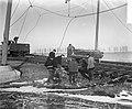 Herstel spoorweg Moerdijk Watersnood 1953 Aan de spoorweg tussen Dordrecht ove, Bestanddeelnr 905-5375.jpg