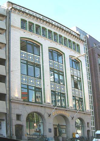 Afrikahaus (Hamburg) - Facade of Afrikahaus