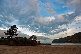 Hicks Bay Town in Gisborne District, New Zealand