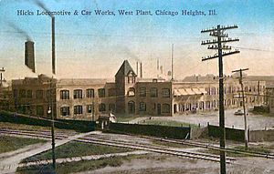 Hicks Locomotive and Car Works - The Chicago Heights plant West Works.
