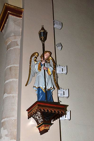 Cherubim am Chouer vun der Kierch zu Hiefenech.