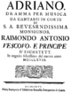 Hieronymus Mango - Adriano in Siria - titlepage of the libretto - Eichstätt 1768.png