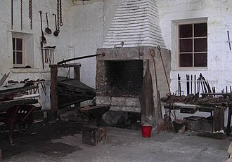 High Peak Junction - A view inside the old workshop, showing the forge.