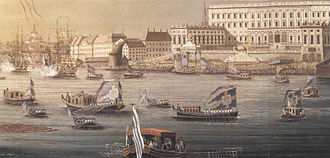 Vasaorden (barge) - Vasaorden was first used to mark the arrival of Duchess Hedvid Elisabeth Charlotte to Stockholm in July 1774