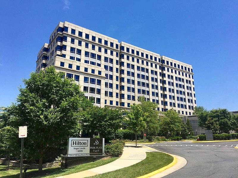Hilton Worldwide headquarters in Virginia seen from Jones Branch Drive.jpg