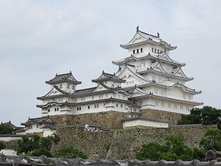 Japanese castle fortresses constructed primarily of wood and stone
