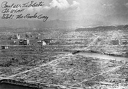 250px Hiroshima aftermath, ilk atom bombası nereye ne zaman atıldı