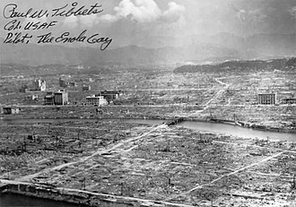 Mutual assured destruction - Aftermath of the atomic bomb explosion over Hiroshima, August 6, 1945