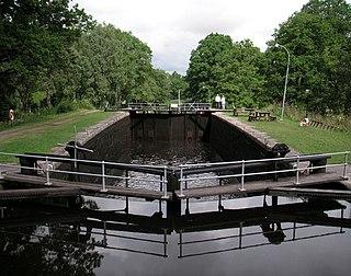 Hjälmare kanal Canal in Arboga Municipality, Sweden
