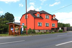 Hladov - Image: Hladov, bus stop