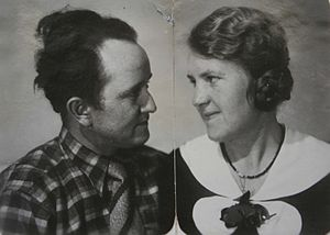 Otto Müller (painter) - Otto and Senta-Luise Müller, née Demmer, Halle 24. March 1934 (dedication: Wirkliche Liebe ist ewiglich. Dein Otto – True love is eternal, Otto)