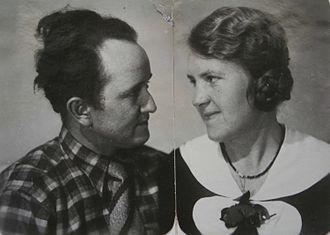 Otto Müller (painter) - Otto and Senta-Luise Müller, née Demmer, Halle 24. March 1934 (dedication: Wirkliche Liebe ist ewiglich. Dein Otto – True love is eternal, Otto)