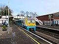 Holyhead train in Church Stretton station (geograph 6338674).jpg