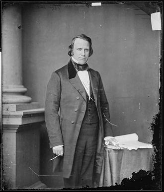 Henry Wilson - U.S. Senator Henry Wilson, photograph by Mathew Brady