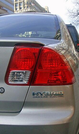Honda Civic Hybrid - Hybrid badging used in the 2001–2005 generation