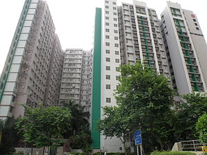 Public housing estates in Shau Kei Wan - Hong Tung Estate