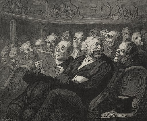 Honoré Daumier - The Theatre- The Orchestra Pit - 1921.1497 - Cleveland Museum of Art