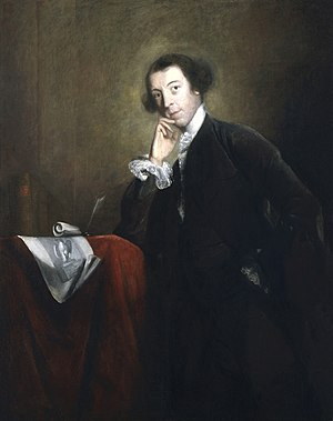 Horace Walpole - Walpole by Sir Joshua Reynolds 1756  National Portrait Gallery, collection London