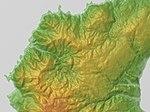 Horonaigawa Caldera Relief Map, SRTM-1.jpg
