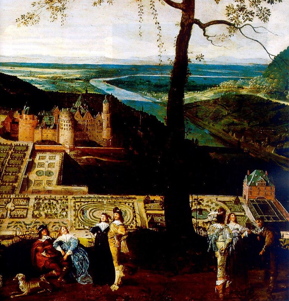 Hortus Palatinus Heidelberg von Theodor Verhas (Ausschnitt)