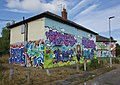 House graffiti, Preston Road, Hull (2) (geograph 5862681).jpg