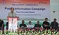 Hrangtinaia addressing the concluding function of the Bharat Nirman Public Information Campaign, at Buarpui Village in Lunglei Dist, Mizoram on February 23, 2013.jpg