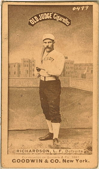 Detroit Wolverines - Hardy Richardson of the Detroit Wolverines, circa 1887