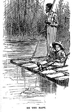 Huck and jim on raft.jpg