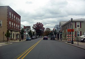 Hughesville, Pennsylvania - A view down Main Street in Hughesville